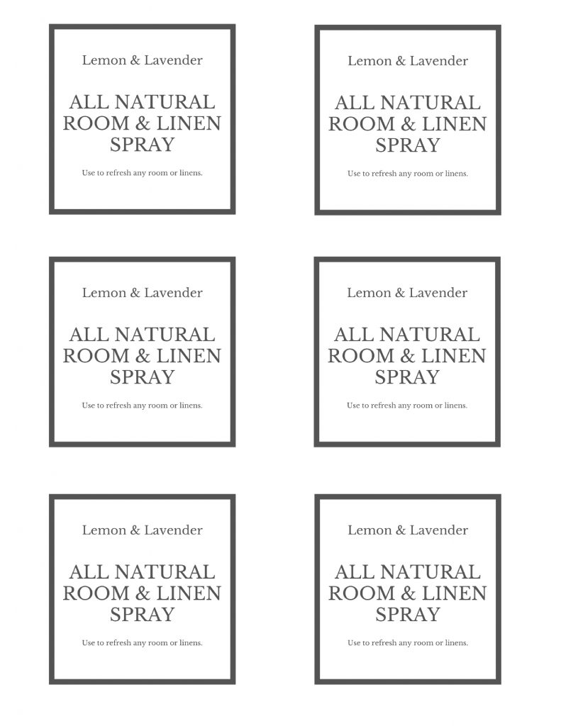 room-spray-labels