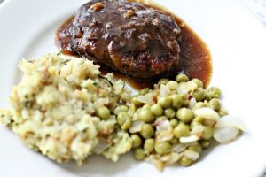 Homemade TV Dinner Salisbury Steak
