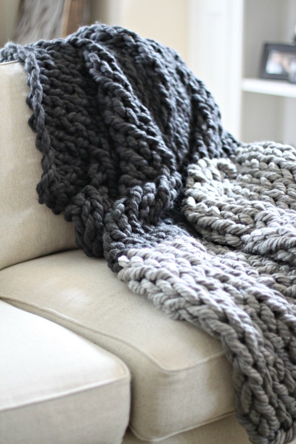 hand knit throw 2