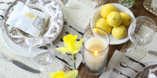 spring table decor small